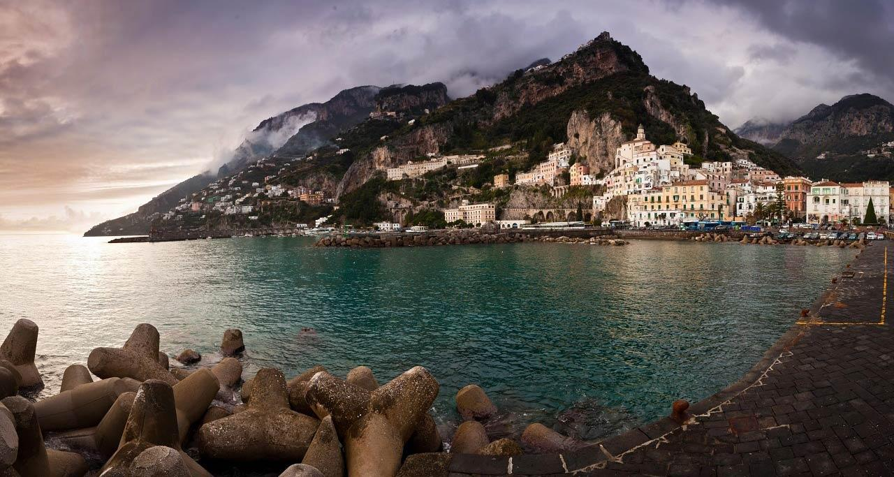 Amalfi Sea Seaside Town Seaside