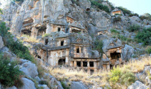 Lycian tombs, Turkey