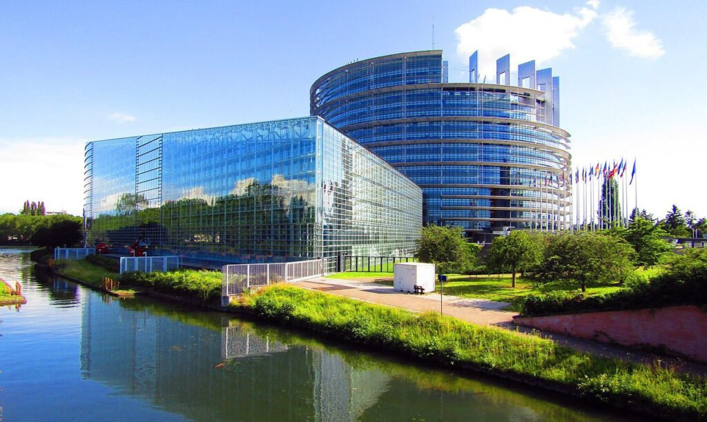 The European Parliament in Strasbourg, France